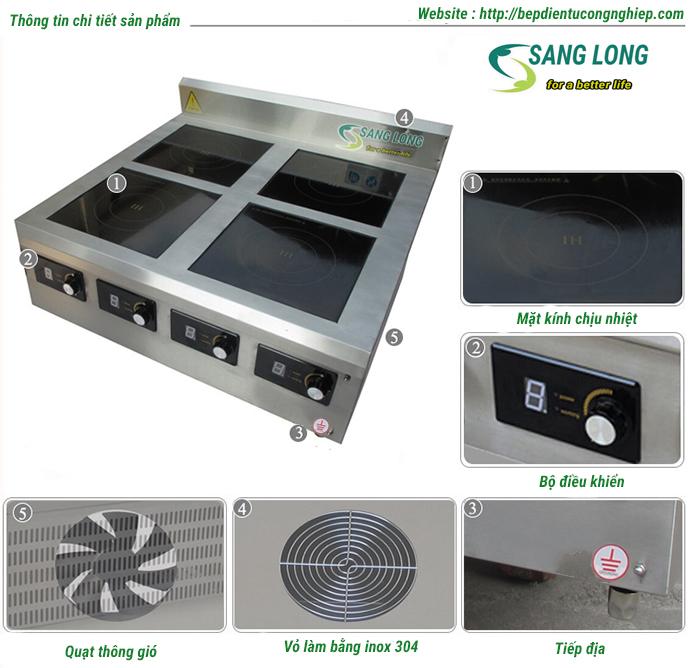 Thông số kỹ thuật bếp từ công nghiệp