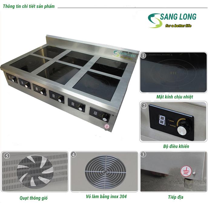 bếp từ công nghiệp - bếp sáu