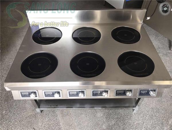 Phân tích các tính năng an toàn trên bếp từ công nghiệp Sang Long