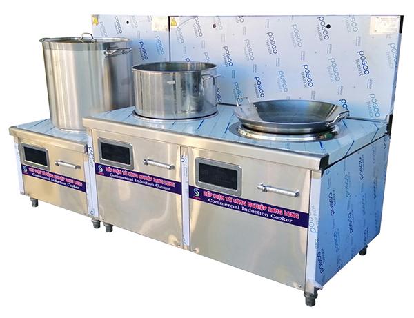 Bếp từ công nghiệp đôi 1 bằng 1 lõm